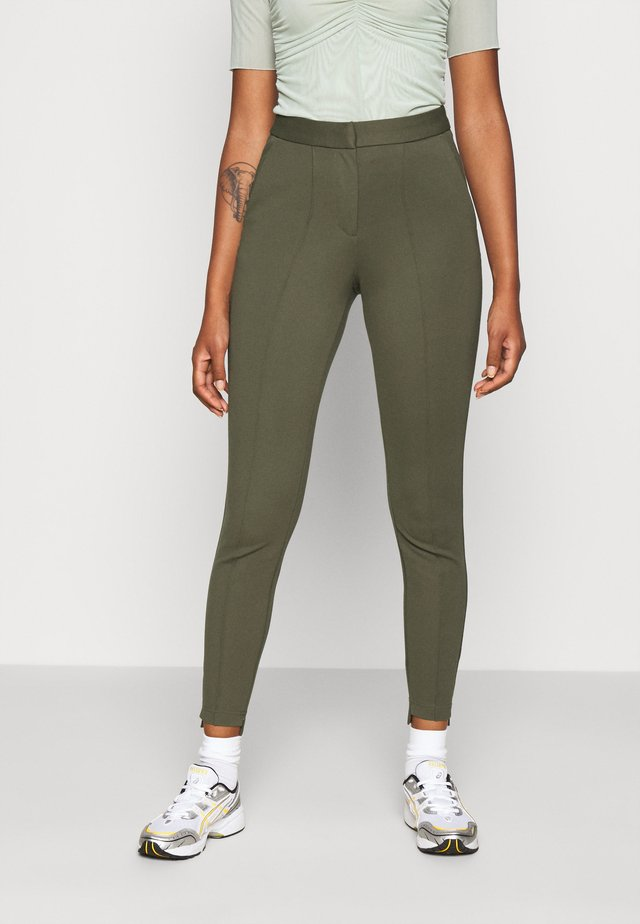 OBJCHIA NICKY ANCLE PANT  - Tygbyxor - burnt olive