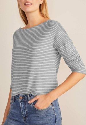 Sweatshirt - grau meliert/naturweiß