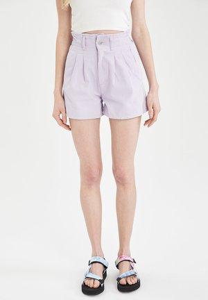 Denim shorts - purple