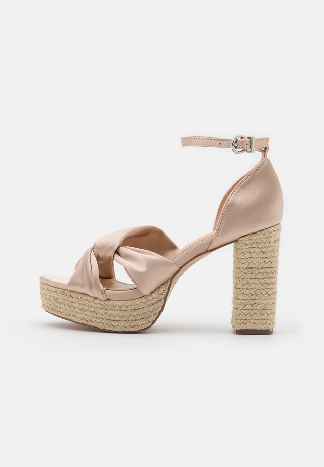 LUNA - High heeled sandals - beige
