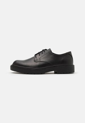 LEATHER UNISEX - Lace-ups - black
