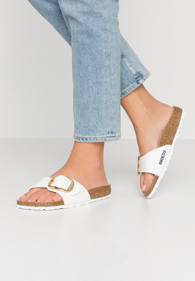 MADRID BIG BUCKLE - Mules - white