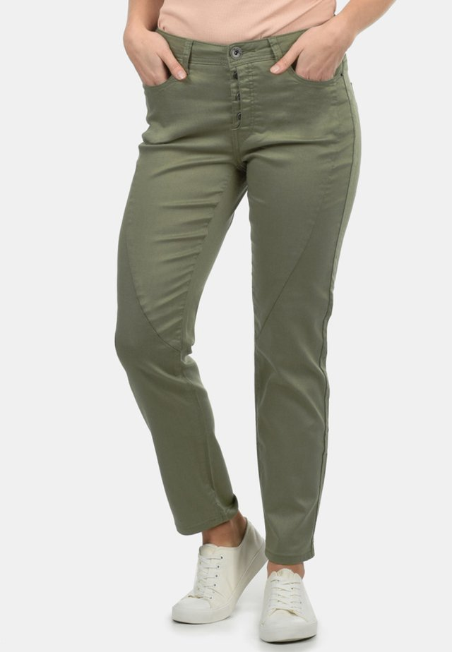 ELBJA - Jeans a sigaretta - dusty olive