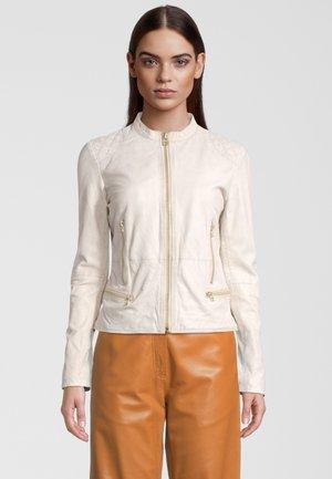 SUPERNOVA  - Leather jacket - antique white