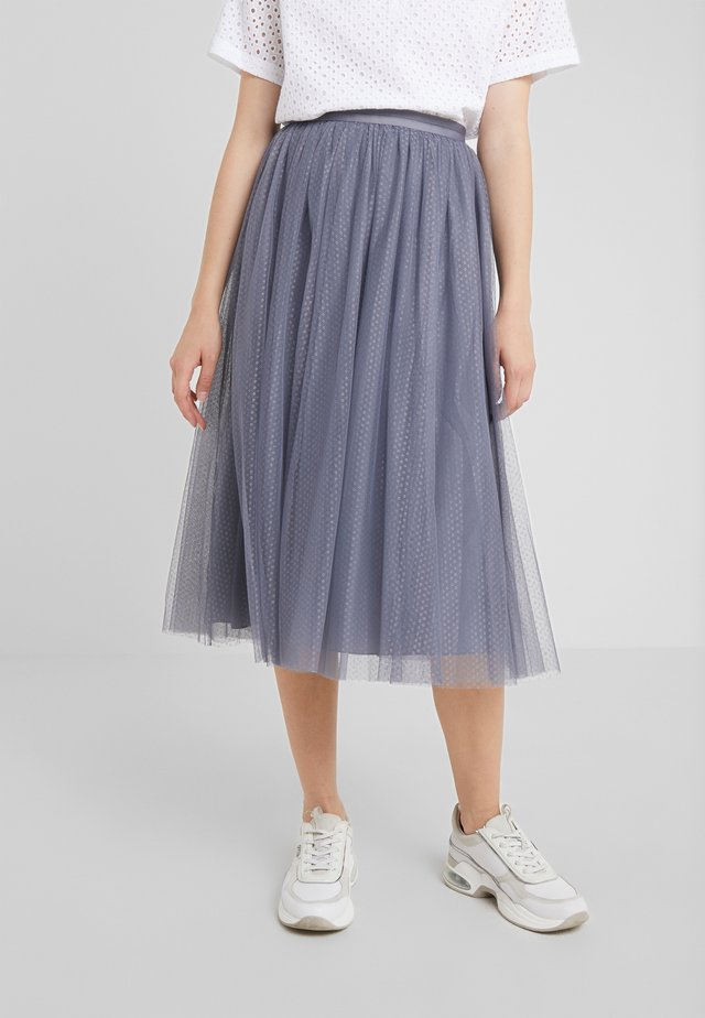 DOTTED SKIRT - Jupe trapèze - thistle blue