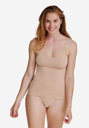 2 PACK - Undertrøjer - black/nude beige