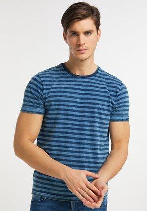 Print T-shirt - azure blue