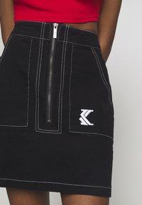 Karl Kani - SKIRT - A-line skirt - black/white - 4