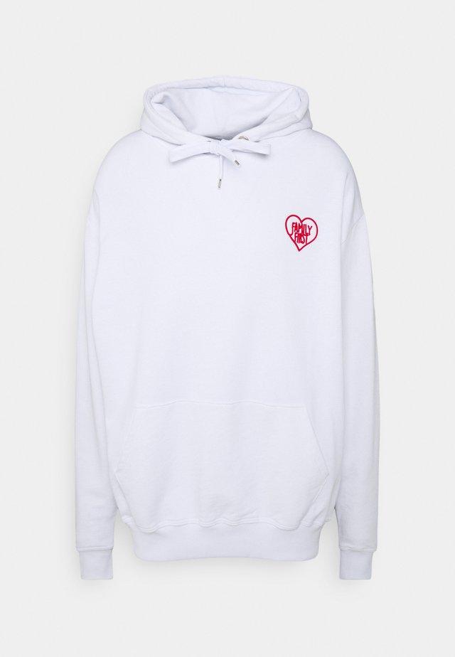 HOODIE HEART - Sweatshirt - white