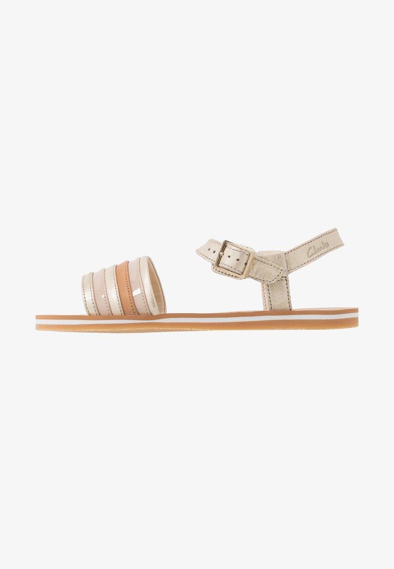 Clarks - FINCH STRIDE - Sandals - metallic