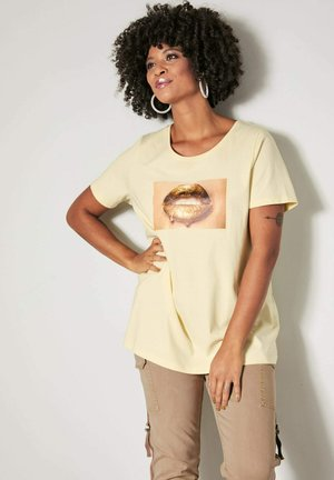 Print T-shirt - vanille