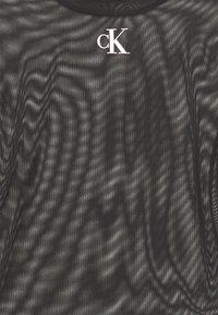 Calvin Klein Jeans - HIGH NECK - Long sleeved top - black - 2