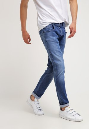 ANBASS - Jean slim - blue denim
