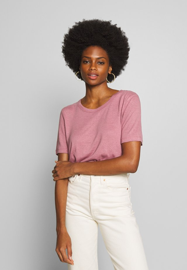 ALNOE - T-shirt basic - nosta rose