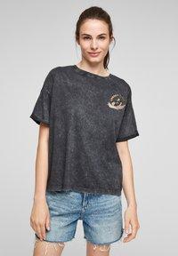 Q/S designed by - LOONEY TUNES - T-shirt print - black - 0