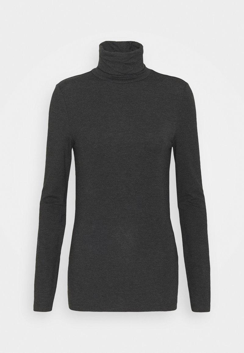 Vero Moda Tall - VMAVA LULU ROLLNECK - Langarmshirt - dark grey melange