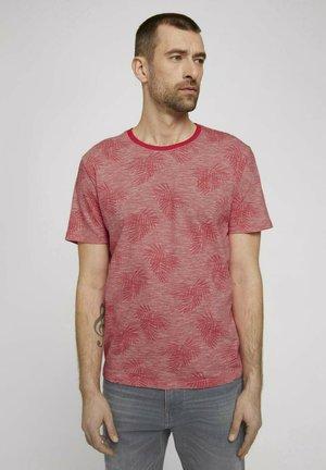 T-shirt print - plain red white stripe