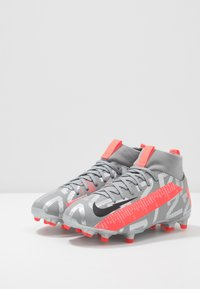 Nike Performance - MERCURIAL JR 7 ACADEMY FG/MG UNISEX - Moulded stud football boots - metallic bomber grey/black/particle grey - 3