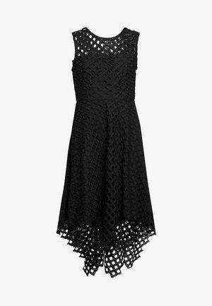 LATTICE EMBROIDERY ANNEMARIE DRESS - Koktejlové šaty/ šaty na párty - black
