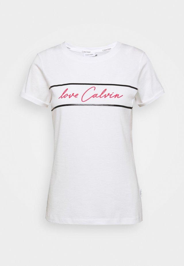 SLIM FIT LOVE - T-shirts print - white
