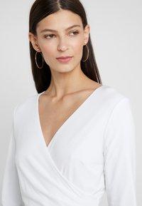 Lauren Ralph Lauren - MID WEIGHT TONE DRESS - Fodralklänning - black/ white - 5