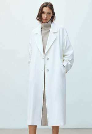 LANGER WOLLMANTEL  - Classic coat - white