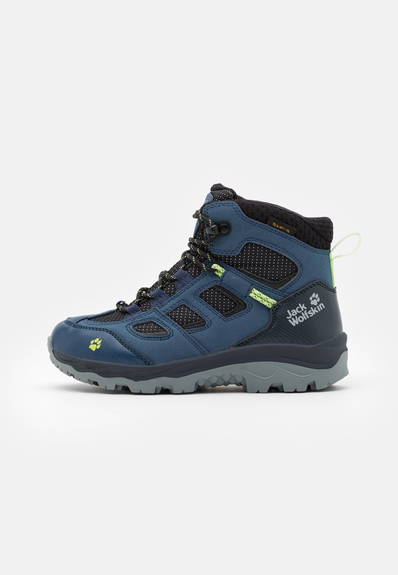 Jack Wolfskin - VOJO TEXAPORE MID UNISEX - Hiking shoes - dark blue/lime