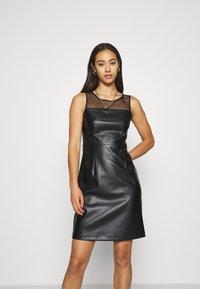 ONLY - ONLVIBE MIX DRESS - Kjole - black - 0