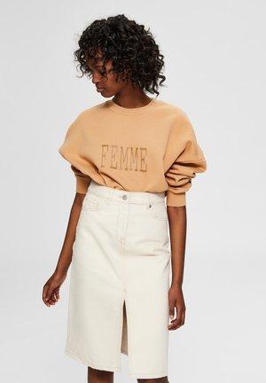 SELECTED FEMME SWEATSHIRT BEDRUCKTES - Sweatshirt - doe