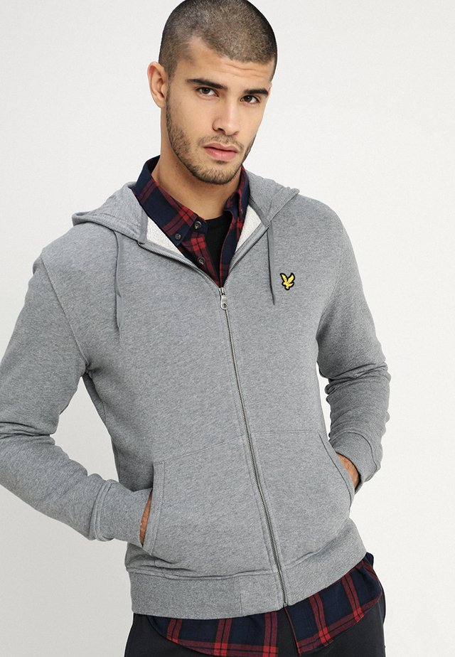 ZIP THROUGH HOODIE - veste en sweat zippée - mid grey marl