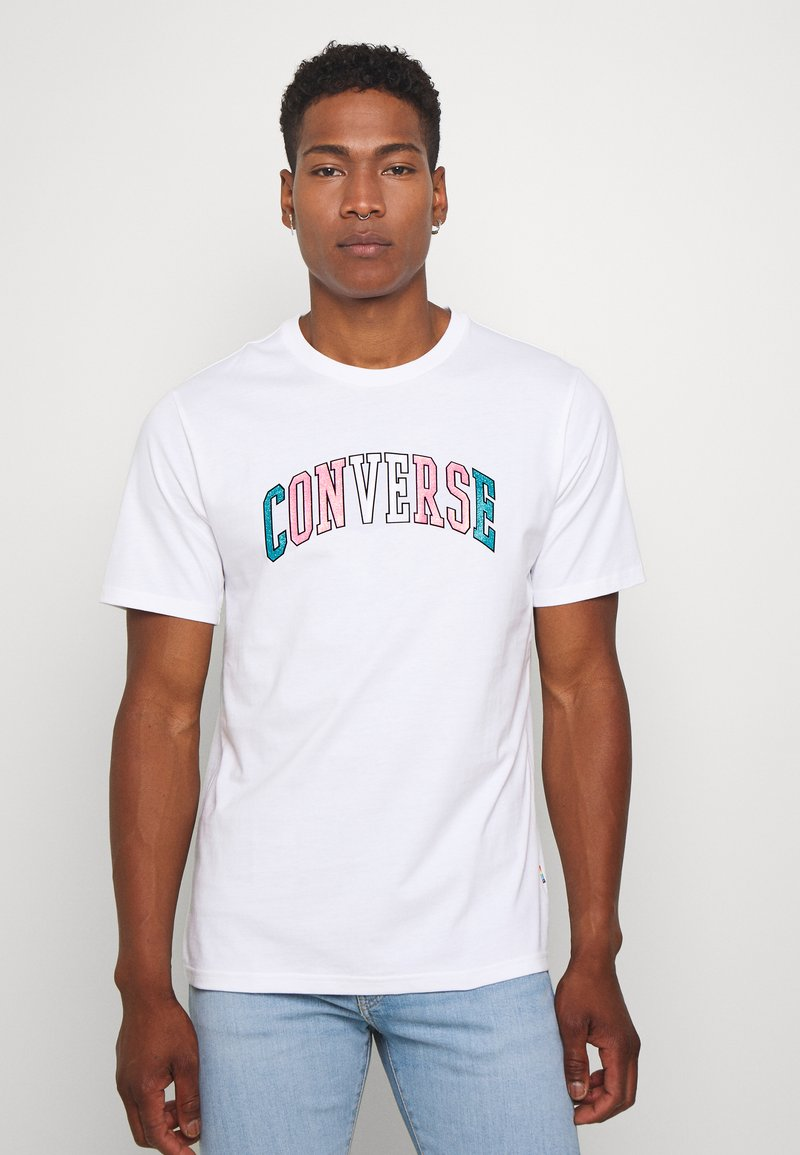 Converse - GLITTER PRIDE TEE - Print T-shirt - white