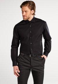 Eterna - FITTED WAIST - Shirt - black - 0