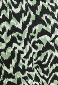 ONLY - ONLPELLA SKIRT - Maxi skirt - black/green milieu - 4