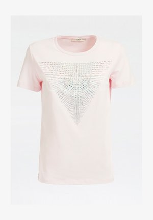 SCHMUCKLOGO APPLIKATIONEN - Print T-shirt - rose