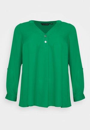 CURVE PLAIN ROLL SLEEVE  - Long sleeved top - green