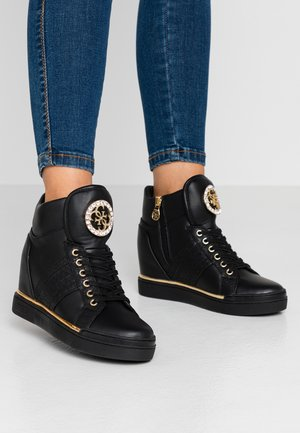 FREETA - High-top trainers - black