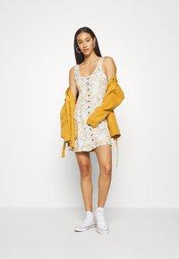 American Eagle - LINED TIE BACK MINI DRESS - Vestito estivo - cream - 1