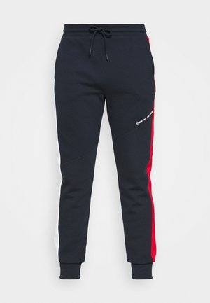 BLOCKED TERRY PANT - Tracksuit bottoms - blue