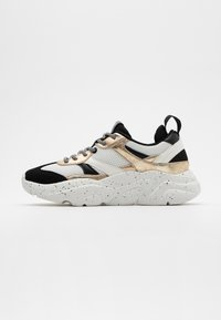 ONLY SHOES - ONLSANNA CHUNKY - Trainers - white/gold - 1