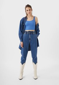 Stradivarius - CROPPED - Top - blue - 1