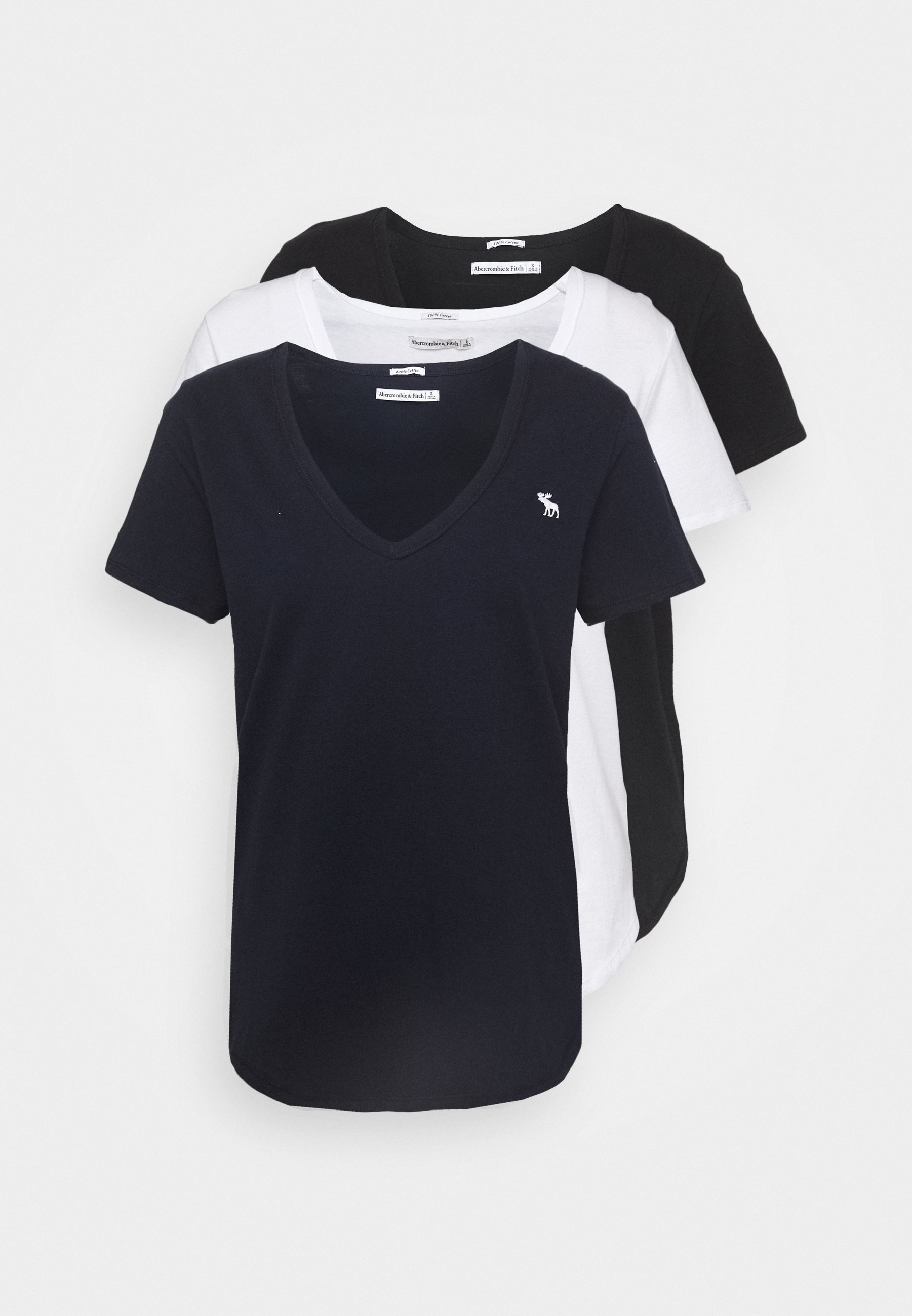 Damen VNECK 3 PACK - T-Shirt basic