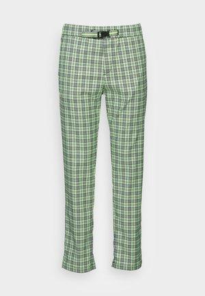 PANTS - Trousers - green/grey/black