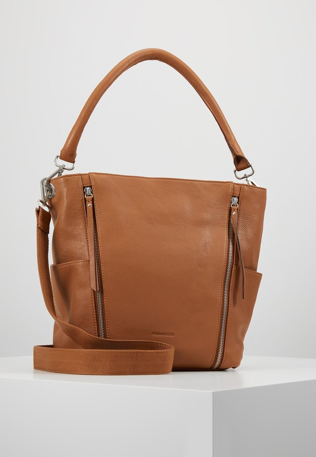 NEW TRUE - Handbag - dark camel
