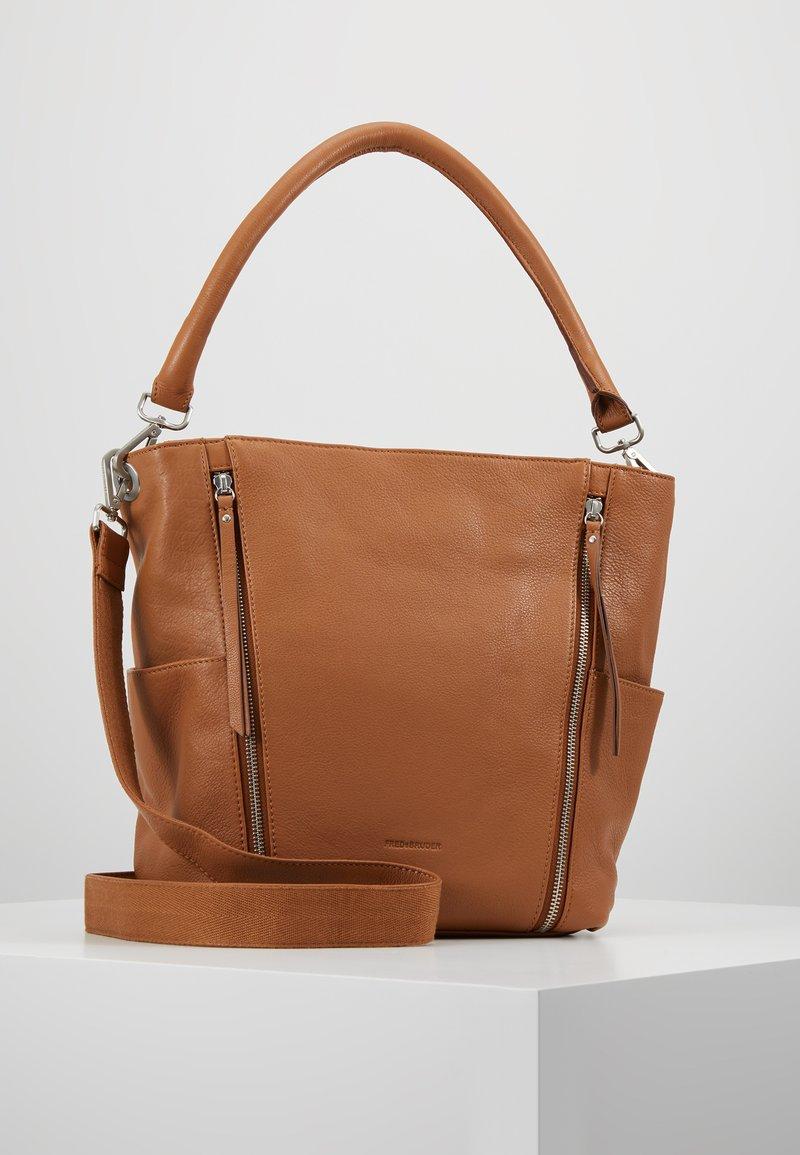 FREDsBRUDER - NEW TRUE - Handbag - dark camel