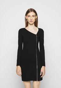 Patrizia Pepe - ABITO DRESS - Jersey dress - nero - 0