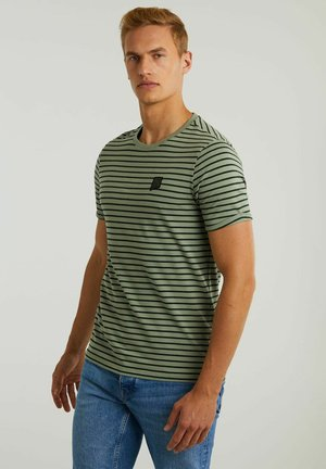 SHORE - Print T-shirt - light grey