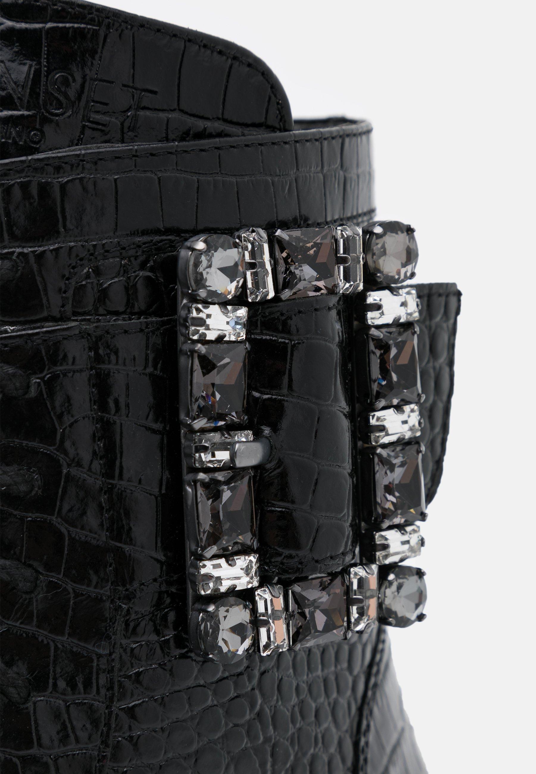 TWINSET Schnürstiefelette nero/schwarz