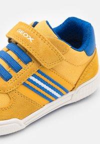 Geox - POSEIDO BOY - Sneakers basse - dark yellow/royal - 5