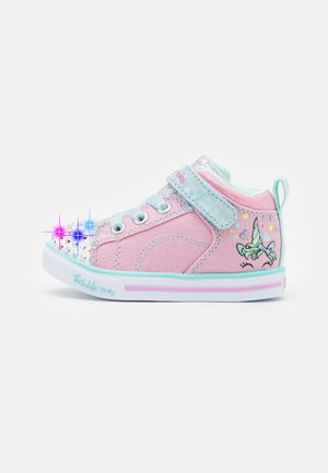 SPARKLE LITE - High-top trainers - sparkle pink/light blue/silver