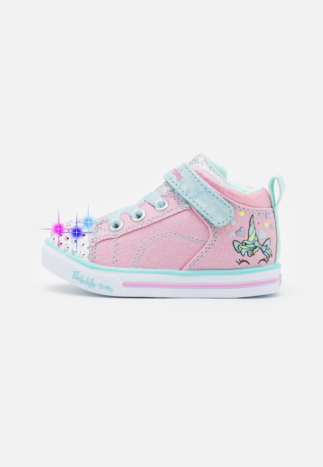 SPARKLE LITE - Sneaker high - sparkle pink/light blue/silver